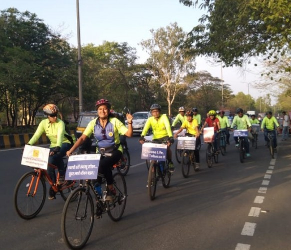 World No Tobacco Day Cyclists Rally