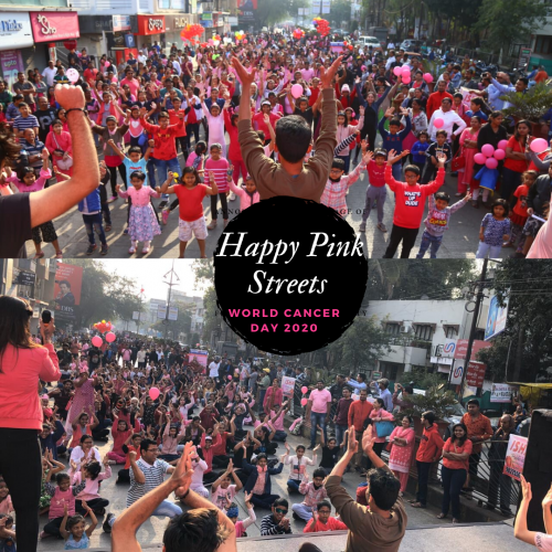 Happy Pink Streets organised by HCG Manavata Cancer Centre and Maharashtra Times