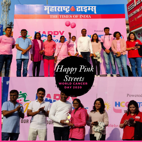 Happy Pink Street Organised by HCG Manavata Cancer Centre Nashik