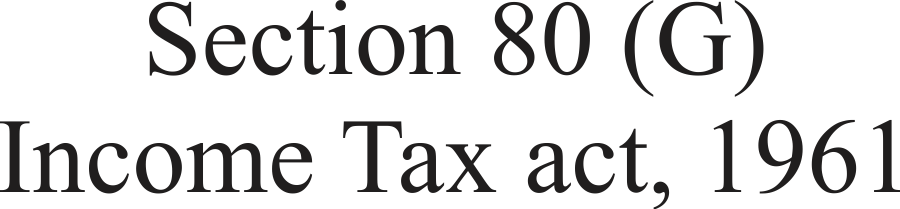 Section 80 (G) Income Tax act, 1961